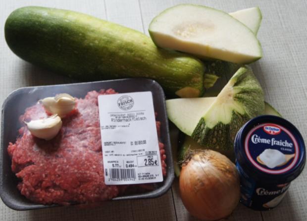 Rinderhackfleisch-Zucchini-Pfanne mit Drillingen - Rezept - Bild Nr. 3800