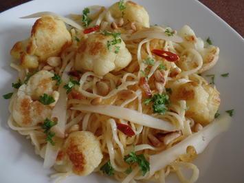 Blumenkohl-Pasta aglio e olio - Rezept - Bild Nr. 3794
