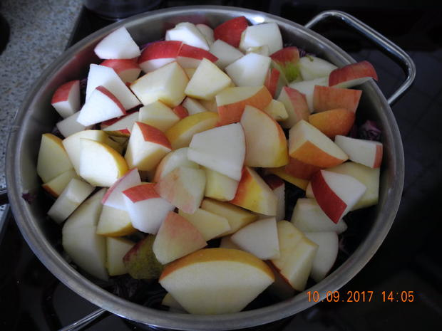 Apfelrotkohl zum Zwiebelbuchweizen - Rezept - Bild Nr. 3793