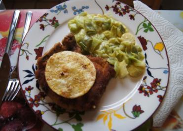 Kotelett mit Curry-Rahm-Porree - Rezept - Bild Nr. 3831