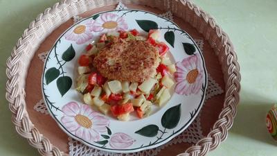 Quinoa - Bratlinge auf Gemüse - Rezept - Bild Nr. 3798