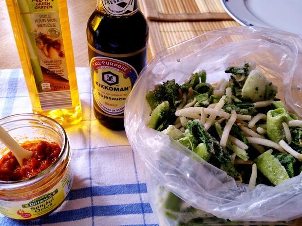 Grünes Wok-Gemüse - asiatisch - Rezept - Bild Nr. 3816