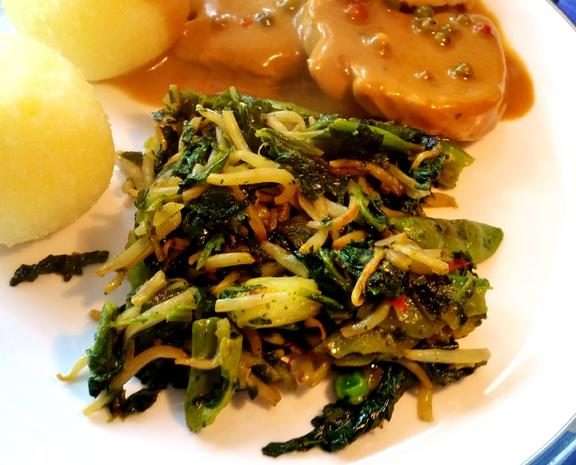 Grünes Wok-Gemüse - asiatisch - Rezept - Bild Nr. 3820