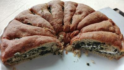 Pizzakranz mit Spinatfüllung - Rezept - Bild Nr. 3822