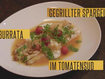 Weißer Spargel, Burrata, Tomatenvinaigrette und Pinienkerne (Roland Trettl) - Rezept - Bild Nr. 2