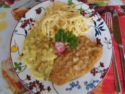 Schnitzel mit Rahmpfifferlingen und Spätzle - Rezept - Bild Nr. 3839