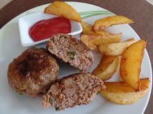 Tatarfrikadellen mit Kartoffelecken - Rezept - Bild Nr. 3831