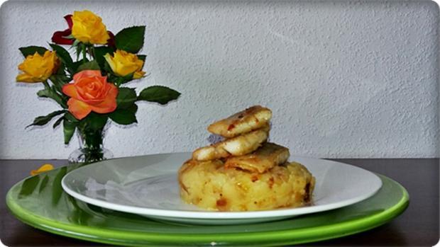 Zander auf Kartoffelbett mit Rotezwiebelmarmelade & Rucola-Pesto - Rezept - Bild Nr. 3840