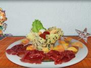 Carpaccio mit Salat im Grana Padano-Körbchen - Rezept - Bild Nr. 3825