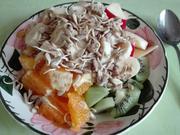 Obst - Frühstück mit gekeimten Sonnenblumenkernen - Rezept - Bild Nr. 3825
