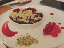 Kirsch Crumble mit selbstgemachter Eiscreme - Rezept - Bild Nr. 2