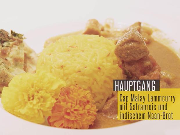 Cap Malay Lammcurry mit Safranreis, dazu indisches Naanbrot - Rezept - Bild Nr. 2