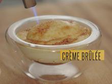 Crème brûlée mit Sauerrahm-Eis, Pfirsichsud und weißem Spargel (Juan Amador) - Rezept - Bild Nr. 2
