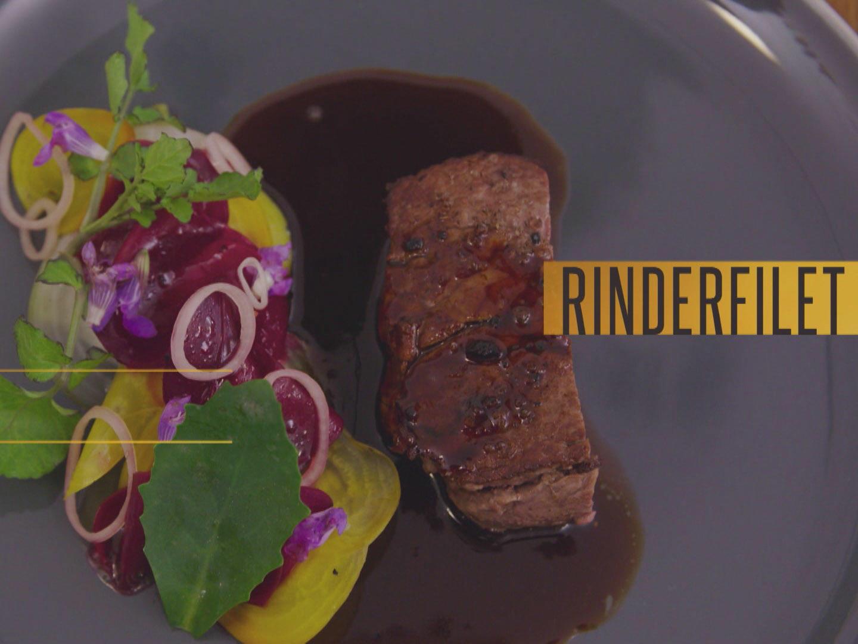 Rinderfilet mit Selleriepüree und Wurzelgemüse (Arne Anker) - Rezept von Das perfekte Profi Dinner