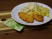Knusperschnitzel aus dem Backofen mit Blumenkohl & Nudeln - Rezept - Bild Nr. 2