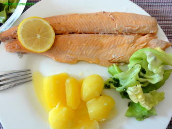 Fisch:   LACHSFORELLE  gedünstet - Rezept - Bild Nr. 3912