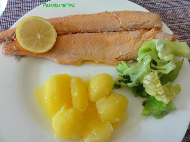 Fisch:   LACHSFORELLE  gedünstet - Rezept - Bild Nr. 3913