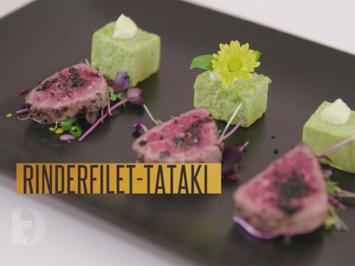 Erbsen-Vanille-Panna-Cotta mit Rindsfilet-Tataki (Meta Hiltebrand) - Rezept - Bild Nr. 2