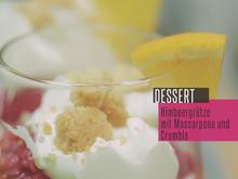 Vanille-Joghurt-Mascarpone mit Crumble und Himbeeren - Rezept - Bild Nr. 2