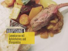 Lammkarree mit Apfelchutney, dazu Ofengemüse - Rezept - Bild Nr. 2