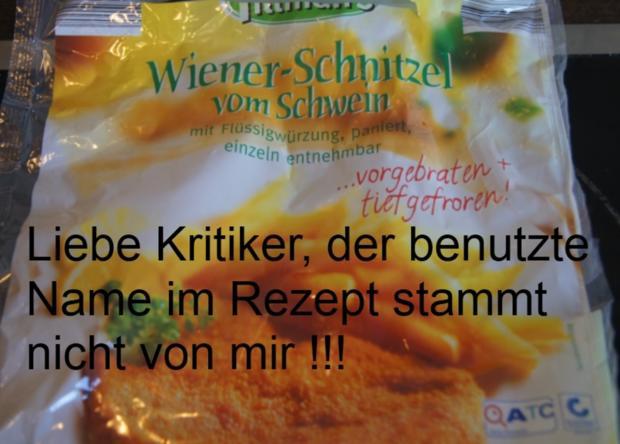 Wiener-Schnitzel vom Schwein mit Rahm-Knoblauch-Champignons und Rosmarinkartoffeln - Rezept - Bild Nr. 4448