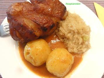 Fleisch:   SCHWEINSHAXE aus dem Römertopf - Rezept - Bild Nr. 3980