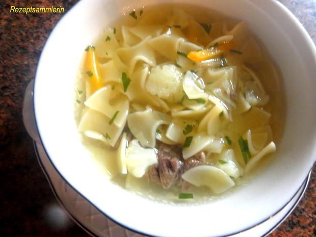 Suppe:   RINDFLEISCH ~ SUPPE  mit Einlage - Rezept - Bild Nr. 4015