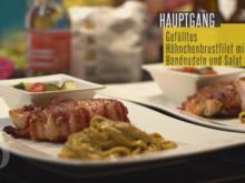 Gefülltes Hähnchenbrustfilet im Speckmantel und hausgemachten Bandnudeln - Rezept - Bild Nr. 2