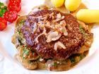 XXL-Steakhaus-Burger auf Champignons - Rezept - Bild Nr. 4072