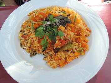 Rezept: Kürbis - Reis - Pfanne