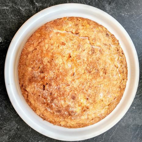 Vanillekuchen mit Mandelknusperkruste - Rezept - Bild Nr. 4156