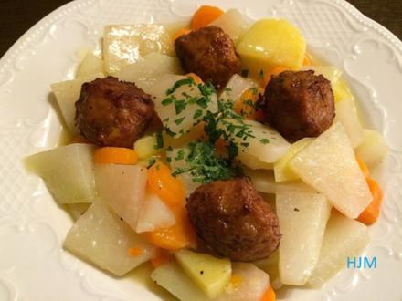 Hackfleisch-Bällchen mit Gemüse und süßsaurer Soße - Rezept - Bild Nr. 2