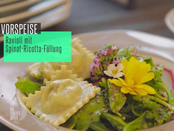 Rezept: Ravioli mit Spinat-Ricotta-Füllung