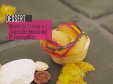 Mirabellen-Chutney mit Ziegenkäsemousse  und Pflaumengebäck - Rezept - Bild Nr. 2