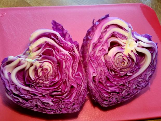Roter Spitzkohl-Salat aus meiner Versuchsküche ... - Rezept - Bild Nr. 4190