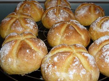 Süßkartoffel-Dinkel-Buttermilchbrötchen - Rezept - Bild Nr. 4222