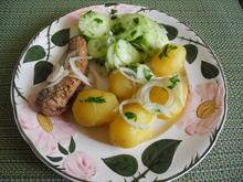 Pellkartoffeln Brathering und Gurkensalat - Rezept - Bild Nr. 4235