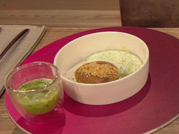 Haselnusskuchen mit Zitrone-Gurke-Minze-Crème (Blick in Trettls Topf) - Rezept - Bild Nr. 2