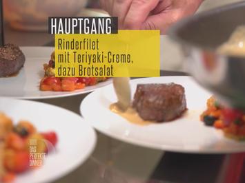 Rezept: Rinderfilets, Teriyaki Sauce und Brotsalat