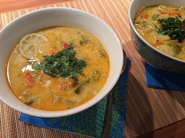 Asiatische Kokos-Gemüse-Suppe - Rezept - Bild Nr. 4301