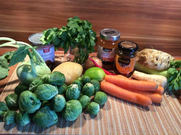 Asiatische Kokos-Gemüse-Suppe - Rezept - Bild Nr. 4302