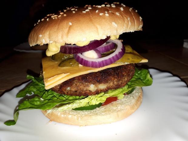 linsen soja frikadellen burger patty vegan und glutenfrei rezept. Black Bedroom Furniture Sets. Home Design Ideas