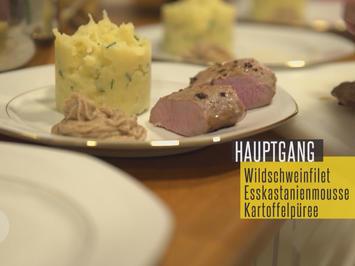 Pfälzer Wildschweinfilet an Schalotten und Feigen, dazu Keschdemus - Rezept - Bild Nr. 2