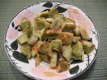 Maultaschen mit Gemüsefüllung in Knoblauch - Butter mit Salatteller - Rezept - Bild Nr. 4331