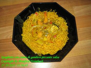 Nudeln – Spaghetti con crema di gamberi piccante salsa - Rezept - Bild Nr. 4343