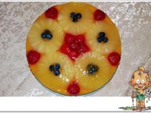 Obsttorte mit Quark-Puddingcreme-Füllung - Rezept - Bild Nr. 4343