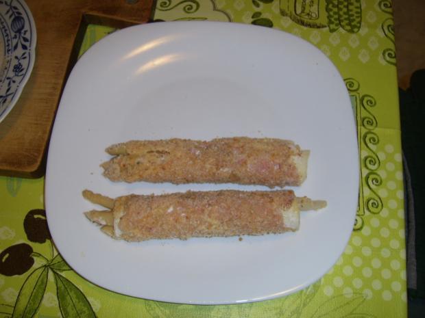 Spargel Schinken Käse nach Wiener-Art - Rezept - Bild Nr. 4346