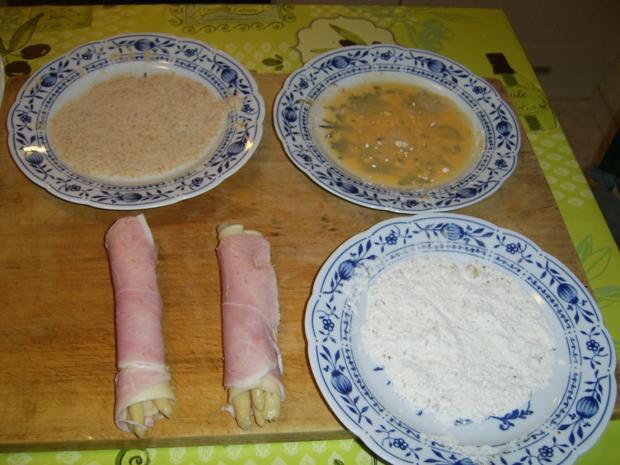 Spargel Schinken Käse nach Wiener-Art - Rezept - Bild Nr. 4347