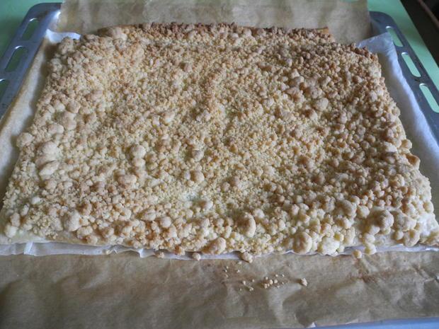 """Blätterteig - Streußel - Kuchen mit Orangen/Zitronenguss """"Prasselkuchen"""" - Rezept - Bild Nr. 4347"""