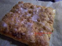 """Blätterteig - Streußel - Kuchen mit Orangen/Zitronenguss """"Prasselkuchen"""" - Rezept - Bild Nr. 4351"""